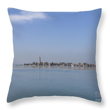 Burano. Lagoon Throw Pillow by Bernard Jaubert