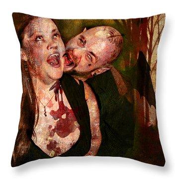 Burches.dark Throw Pillow