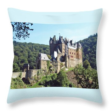 Burg Eltz In Profile Throw Pillow