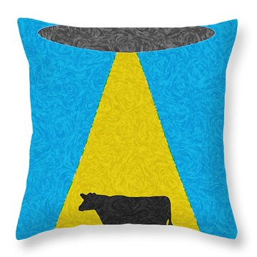 Burger To Go Throw Pillow by Tony Cooper