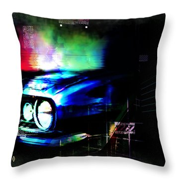 Burn Out Throw Pillow by Adam Vance