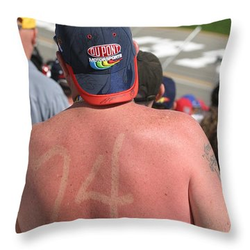 Burned Into His Back 24 Throw Pillow