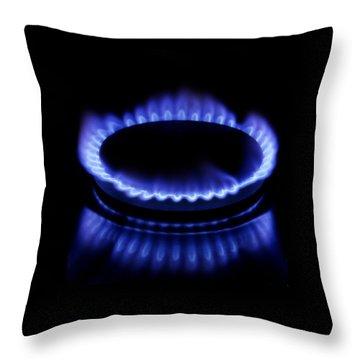 Burning Gas Throw Pillow by Fabrizio Troiani