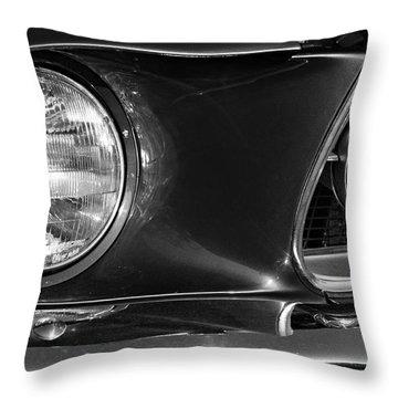 Burnt Rubber Throw Pillow by Luke Moore