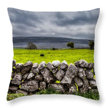 Throw Pillow featuring the photograph Burren Stones by Juergen Klust