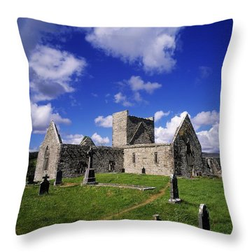 Burrishoole Friary, Co Mayo, Ireland Throw Pillow by The Irish Image Collection