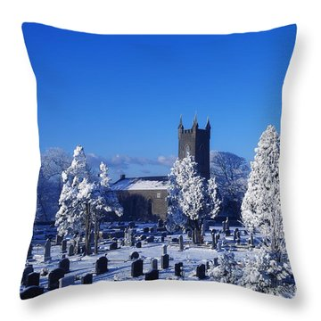 Bushmills Church, County Antrim Throw Pillow by The Irish Image Collection