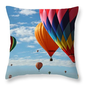 Busy Times Throw Pillow by Vivian Christopher
