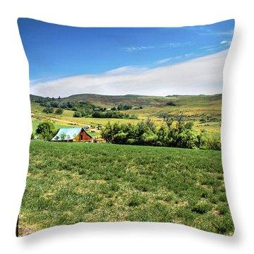 Butte Ranch Throw Pillow by Robert Bales