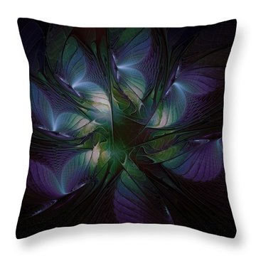 Butterfly Ball Throw Pillow by Amanda Moore