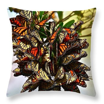Butterfly Bouquet Throw Pillow