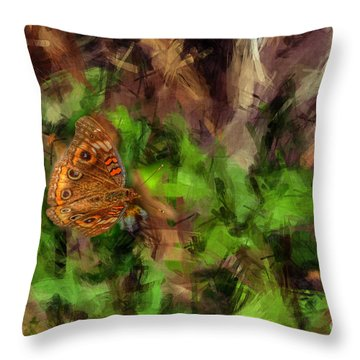 Throw Pillow featuring the photograph Butterfly Camouflage by Dan Friend