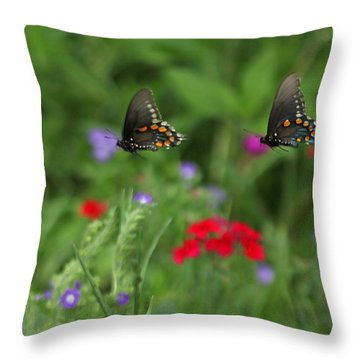 Butterfly Chase Throw Pillow