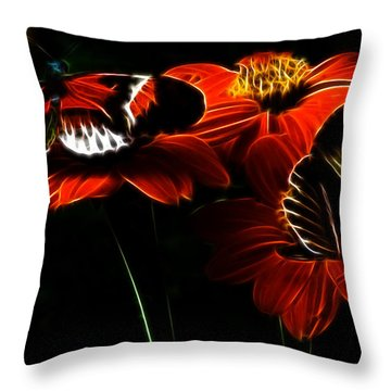 Butterfly Duet Throw Pillow by Darleen Stry