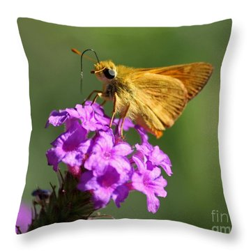 Butterfly Kisses Throw Pillow by Patrick Witz