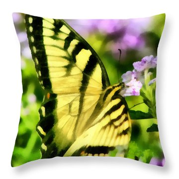 Butterfly Throw Pillow by Lynne Jenkins