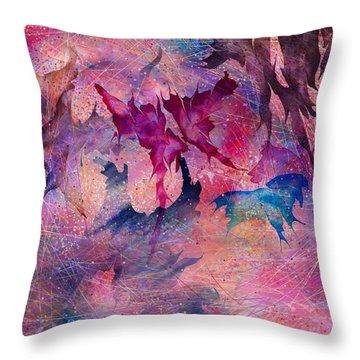 Butterfly Throw Pillow by Rachel Christine Nowicki