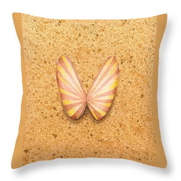 Butterfly Sea Shell Throw Pillow