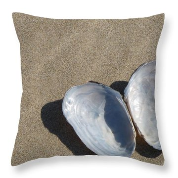 Throw Pillow featuring the photograph Shells And Shadows by Maciek Froncisz