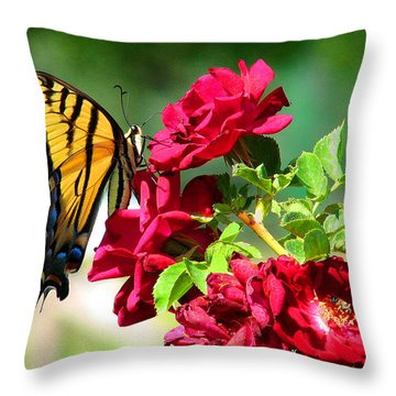 Butterflyrose Throw Pillow