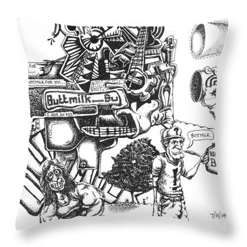 Buttmilk Throw Pillow