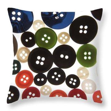 Buttons Throw Pillow by Bernard Jaubert