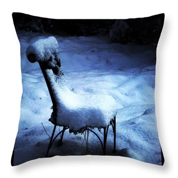 Throw Pillow featuring the photograph By The Light Of The Moon by Susanne Still