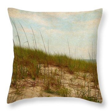 By The Sea Throw Pillow by Judi Bagwell