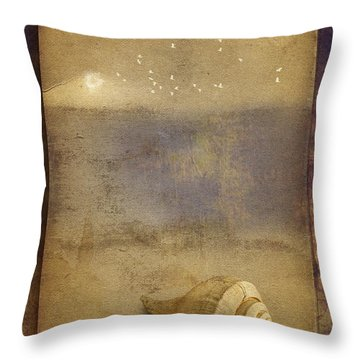 By The Sea Throw Pillow by Ron Jones