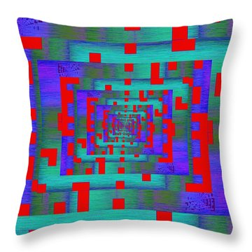 Byte Byway Throw Pillow by Tim Allen