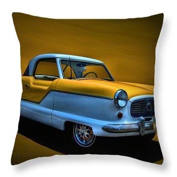 1957 Nash Metropolitan Throw Pillow