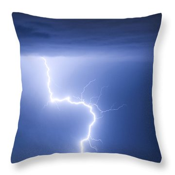 C2g Lightning Strike Throw Pillow by James BO  Insogna