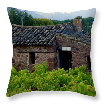 Cabanon Throw Pillow by Lainie Wrightson