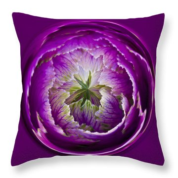 Cabbage Orb Throw Pillow
