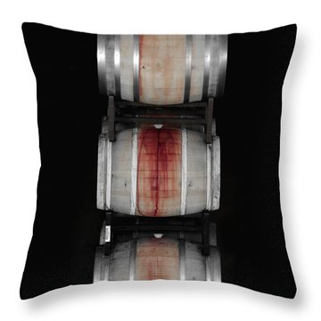 Cabernet Throw Pillow by Donna Blackhall