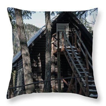 Throw Pillow featuring the photograph Cabin Get Away by Tikvah's Hope