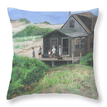 Cabin In The Dunes Throw Pillow by Stuart B Yaeger
