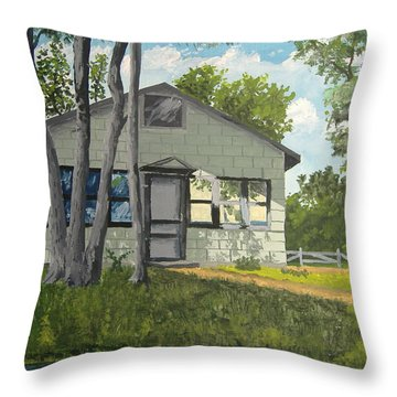 Cabin Up North Throw Pillow