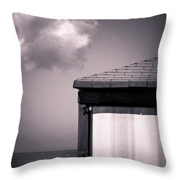 Cabin With Cloud Throw Pillow by Silvia Ganora