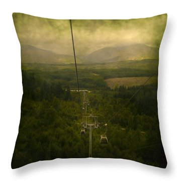 Cable Cars Throw Pillow by Svetlana Sewell