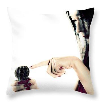 Cactus Throw Pillow by Joana Kruse