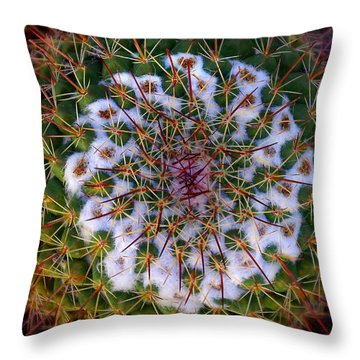 Cactus Radiance Throw Pillow