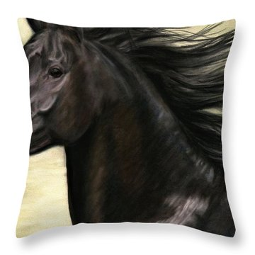 Throw Pillow featuring the painting Cadence by Sheri Gordon