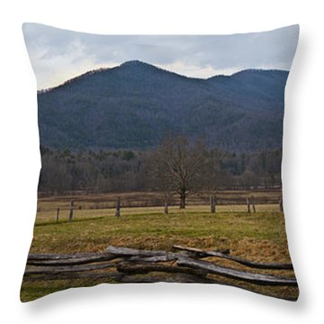 Cade's Cove - Smoky Mountain National Park Throw Pillow by Christopher Gaston