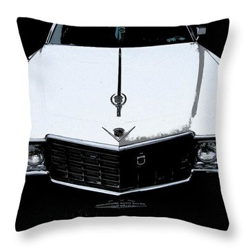 Throw Pillow featuring the photograph Cadillac Pimp Mobile by Kym Backland