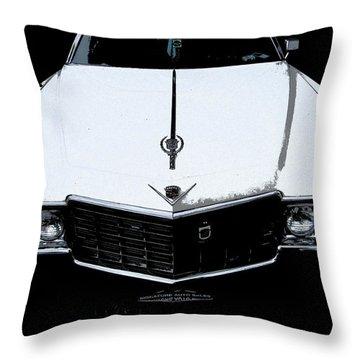 Cadillac Pimp Mobile Throw Pillow by Kym Backland
