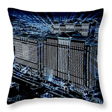 Throw Pillow featuring the photograph Caesars Palace by Steven Richardson