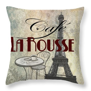 Cafe Larouse Throw Pillow by Greg Sharpe