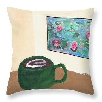 Cafe Monet Throw Pillow
