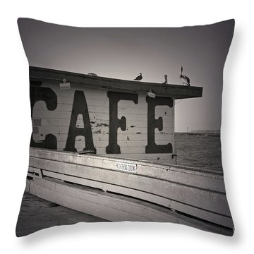 Cafe On The Pier Throw Pillow